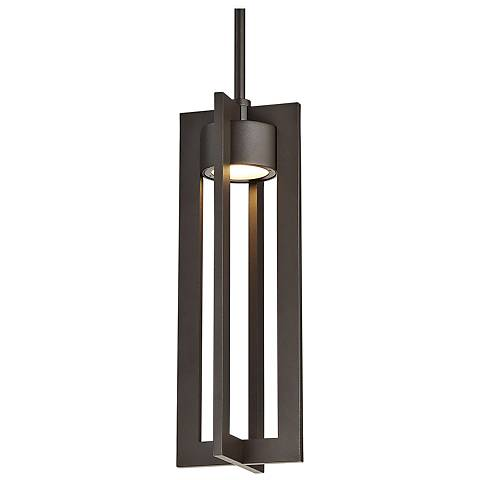 "dweLED Chamber 16"" High Bronze LED Outdoor Hanging Light"