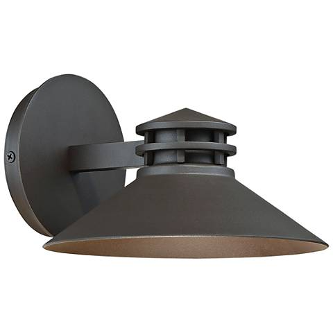 "dweLED Sodor 5"" High Bronze LED Outdoor Wall Light"