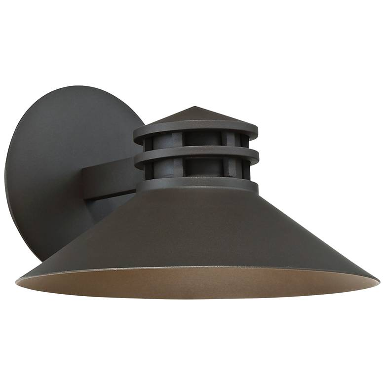 "dweLED Sodor 7"" High Bronze LED Outdoor Wall Light"