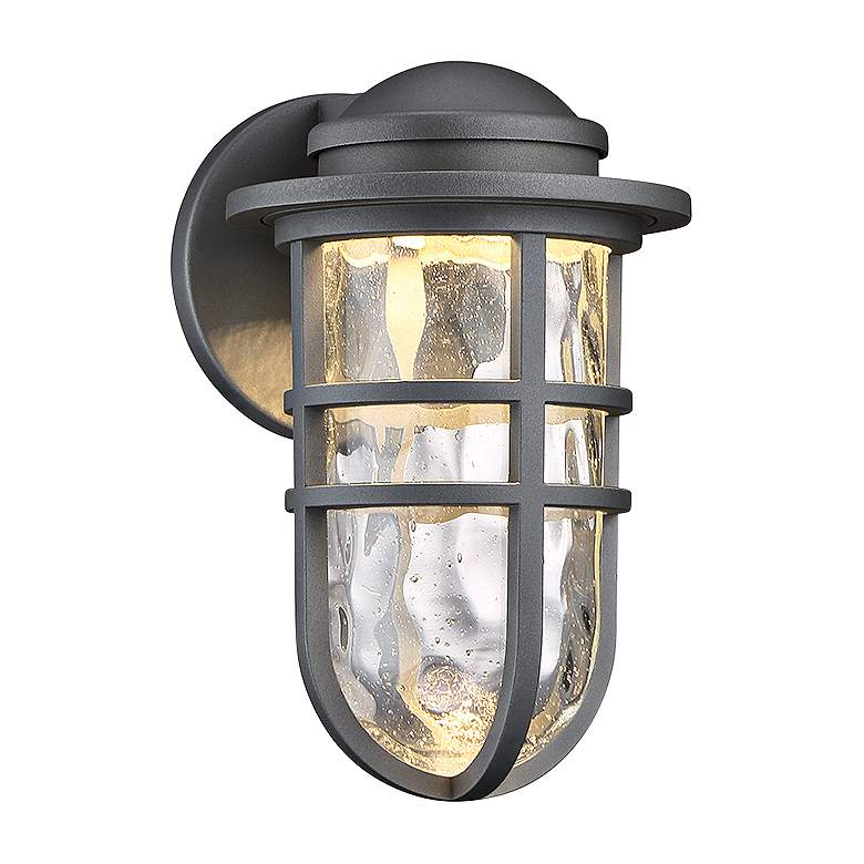 """dweLED Steampunk 9 1/2"""" High Graphite LED Outdoor Wall Light"""