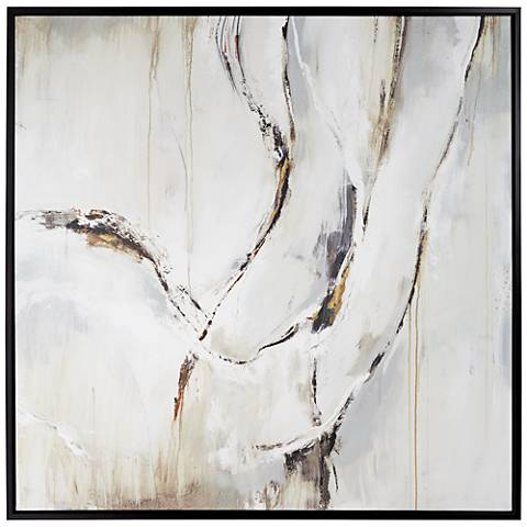 """Natural Flowing Hand Imprint 45 3/4"""" Square Canvas Wall Art"""