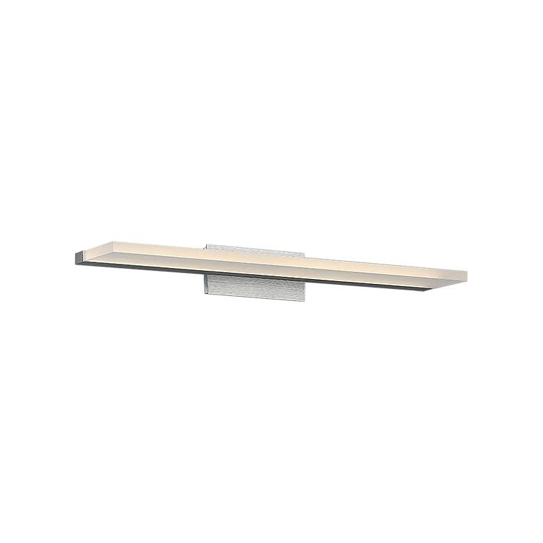 "dweLED Level 24"" Wide Brushed Aluminum LED Bath Light"