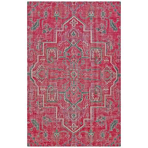 Kaleen Relic RLC01-92 Pink Wool Area Rug