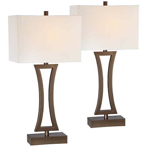 Roxie Bronze Metal Table Lamps Set of 2