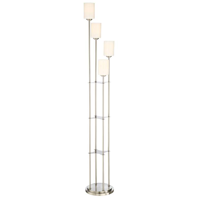 Lite Source Bess Brushed Nickel 4-Light Torchiere Floor Lamp