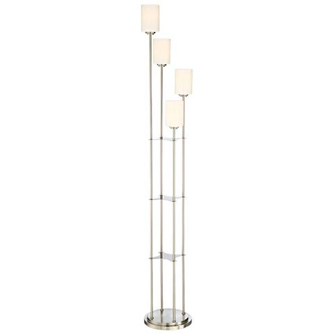 Lite Source Bess Brushed Nickel 4-Light Torchiere Floor Lamp