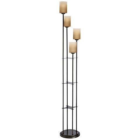 Lite Source Bess Dark Bronze 4-Light Torchiere Floor Lamp