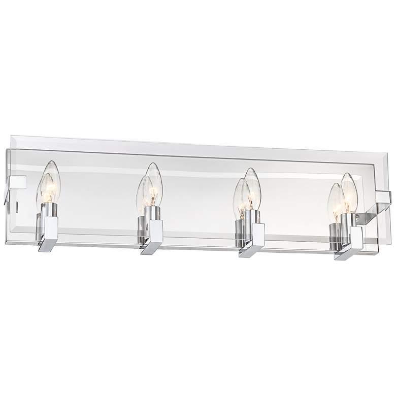 "Possini Euro Miranda 23 3/4"" Wide Chrome 4-Light Bath Light"