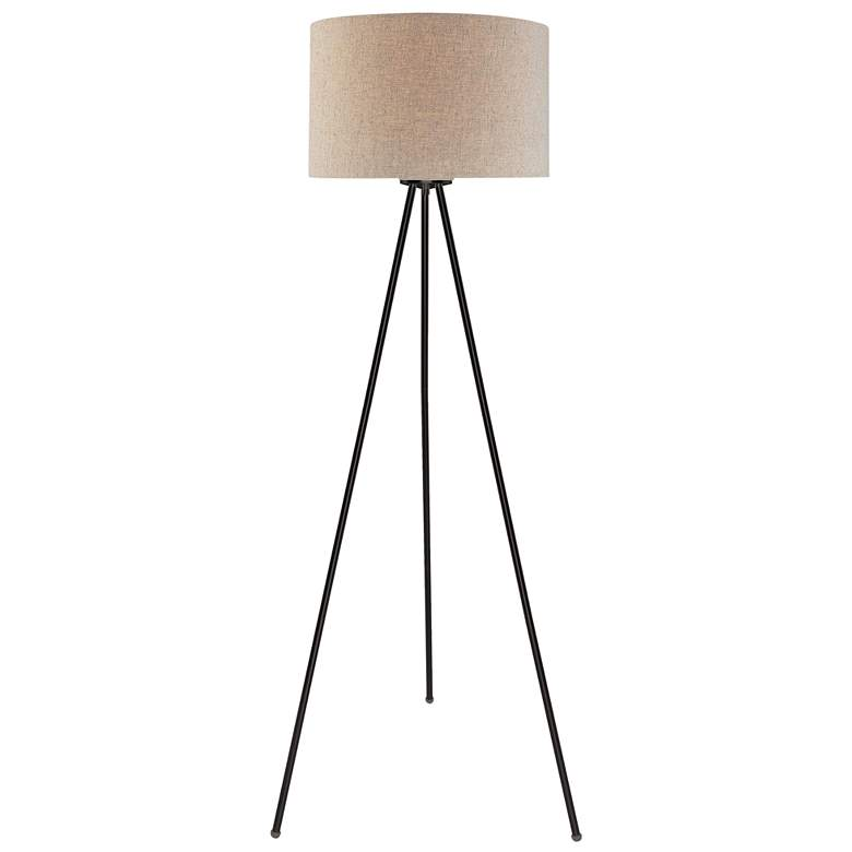 Lite Source Tullio Dark Bronze Tripod Floor Lamp