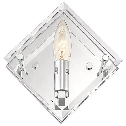 "Possini Euro Collins 7 1/2"" High Chrome Wall Sconce"