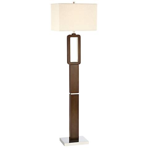 Lite Source Leonard Walnut LED Floor Lamp
