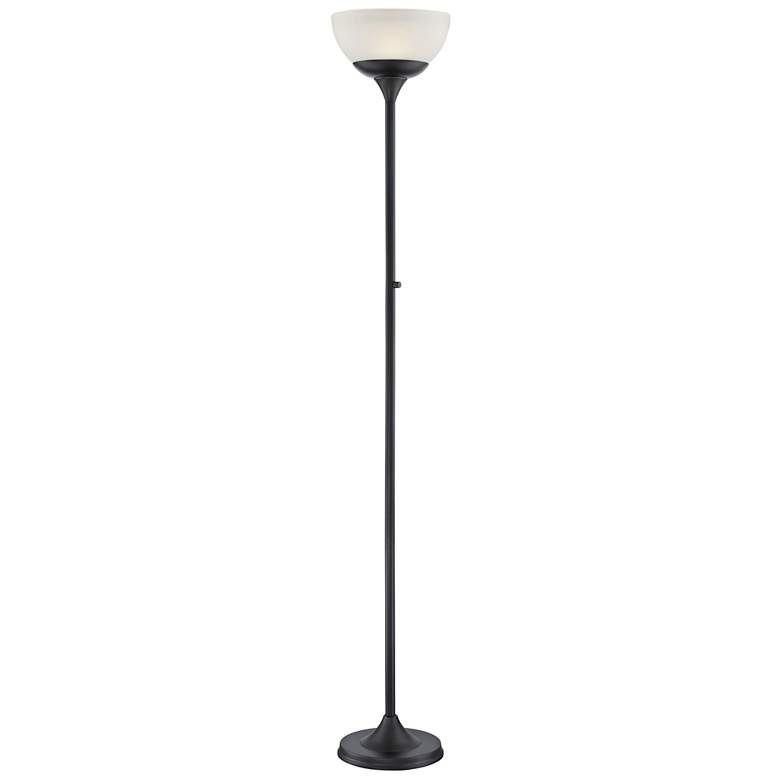 Lite Source Ward Black LED Torchiere Floor Lamp