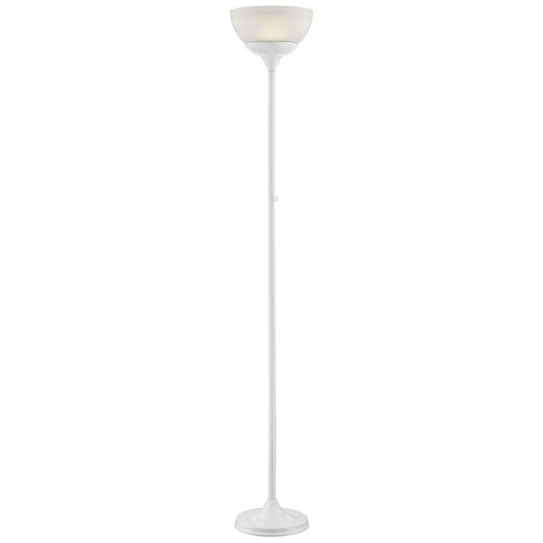 Lite Source Ward White LED Torchiere Floor Lamp
