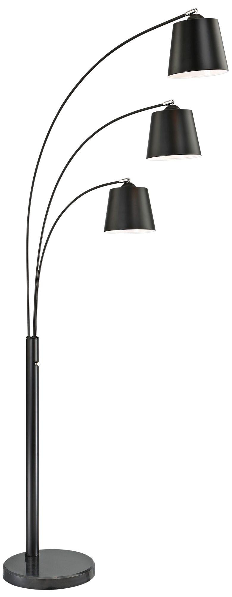 Good Lite Source Quana Black 3 Light Arc Floor Lamp