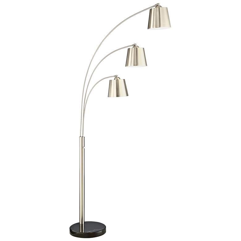 Lite Source Quana Brushed Nickel 3-Light Arc Floor Lamp