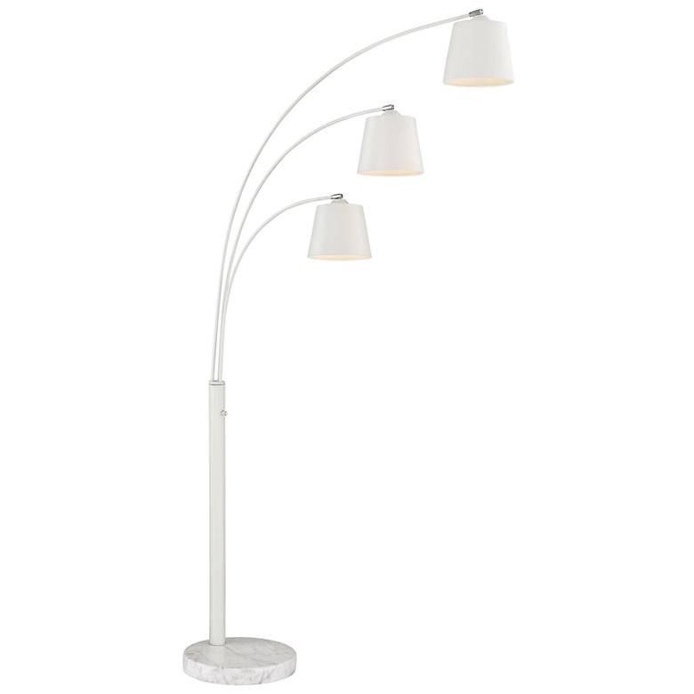 Lite Source Quana White 3-Light Arc Floor Lamp