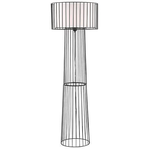 """Lite Source 60"""" High Winslow Black Metal Floor Lamp"""