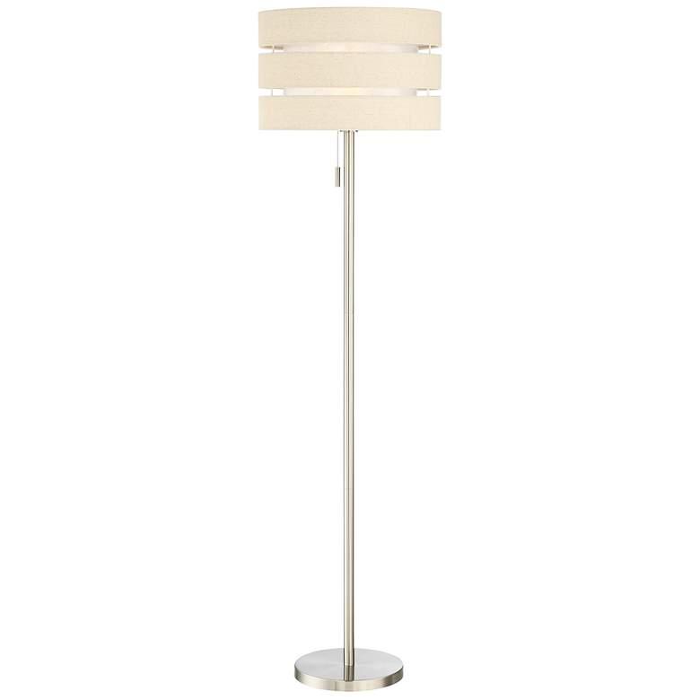 Lite Source Falan Brushed Nickel Floor Lamp