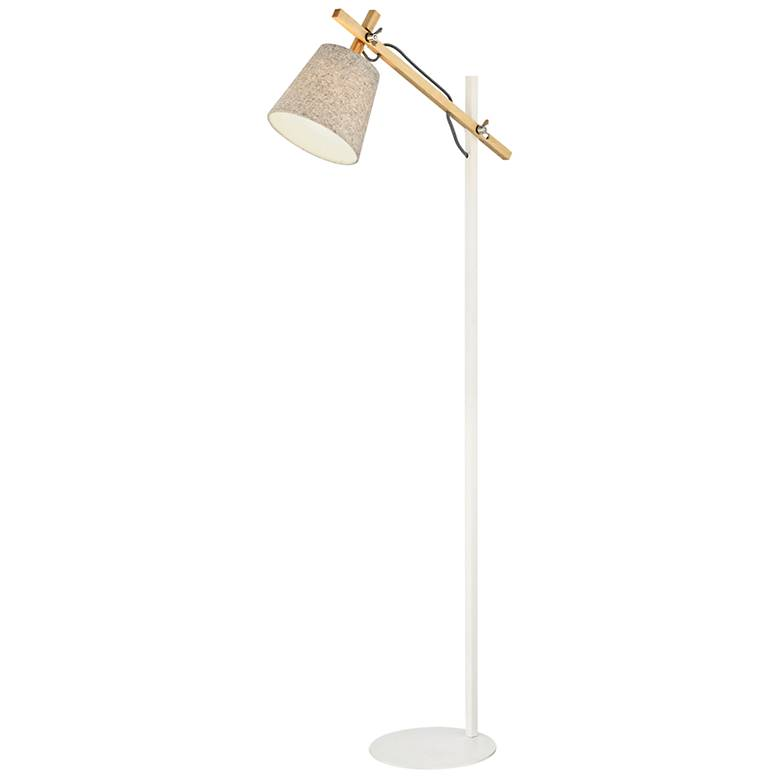 Lite Source Leann Natural and White Floor Lamp