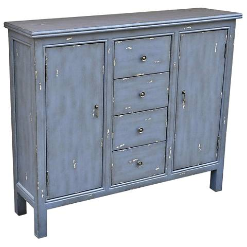 Richmond Smoky Blue 2-Door Wood Accent Cabinet