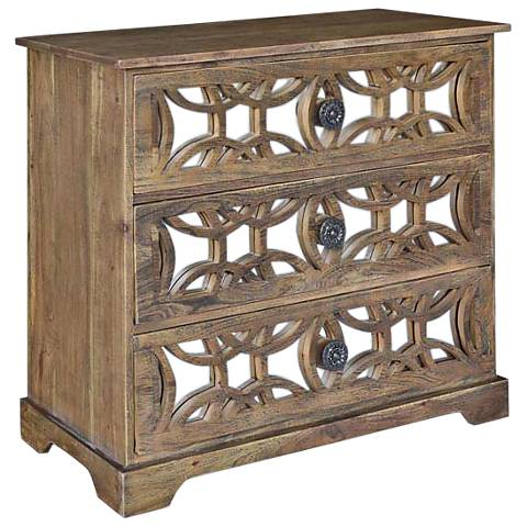 Bengal Manor Natural Acacia Wood 3-Drawer Chest