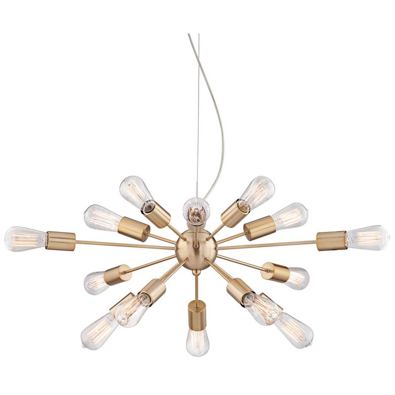 "Hemingson 33"" Wide Gold 15-LED Sputnik Pendant Light"