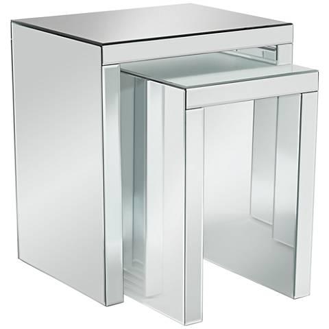 Fletcher Beveled Mirror 2-Piece Nested Table Set