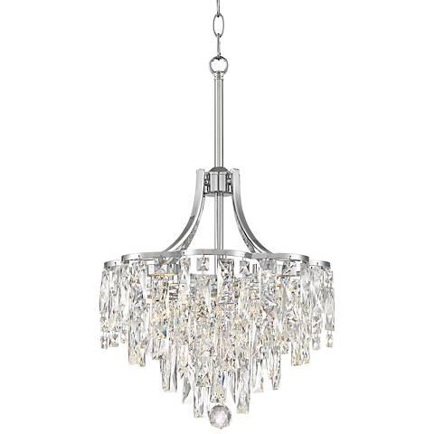 "Villette 15 3/4"" Wide Chrome LED Crystal Pendant Light"