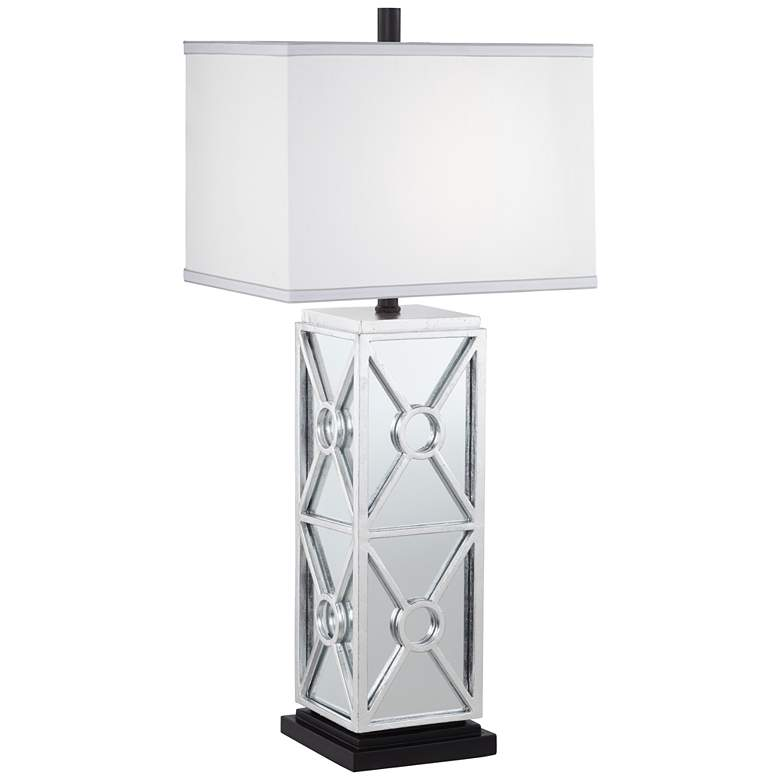 Kathy Ireland Reflections Antique Silver Leaf Table Lamp