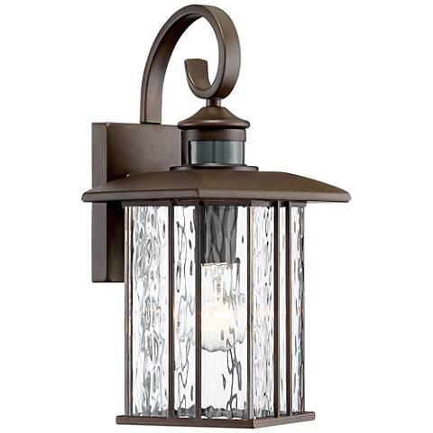"""Deaver 15 1/4"""" High Bronze Motion Sensor Outdoor Wall Light"""