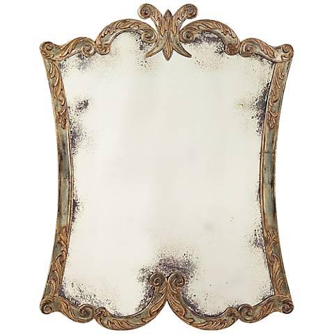 "Portrait Arezzo Aged Silver 45"" x 59"" Oversize Floor Mirror"