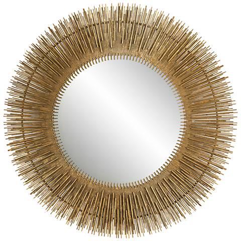 "John Richard Serengeti Gold 36"" Round Wall Mirror"