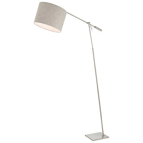 Lite Source Lucilla Brushed Nickel Floor Lamp