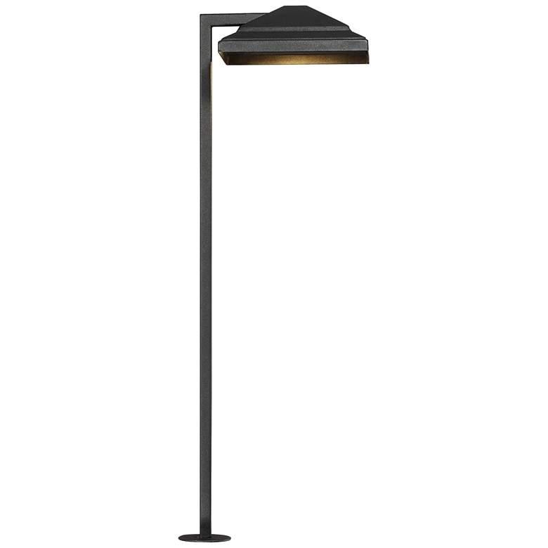"""Basset 23"""" High Textured Black LED Landscape Path Light"""