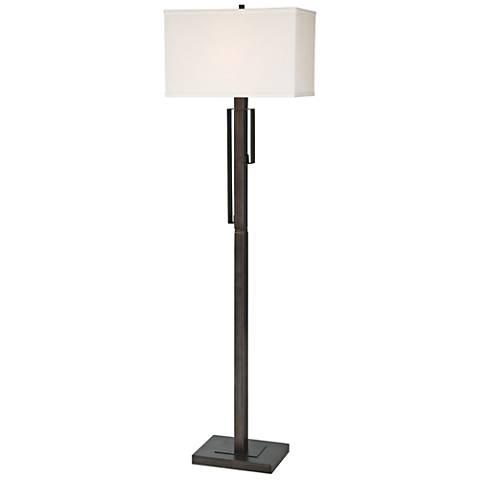 "Lite Source 60"" High Kurtis Brushed Black Floor Lamp"