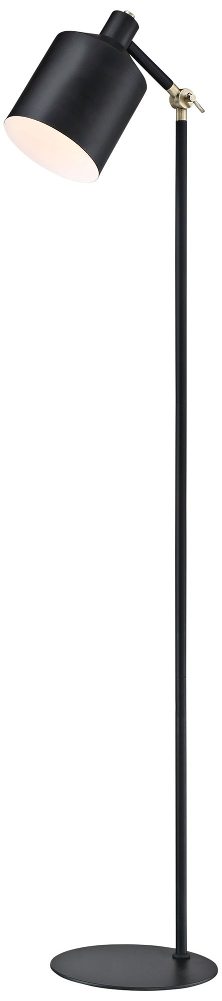 Lite Source Macall Black Metal Floor Lamp