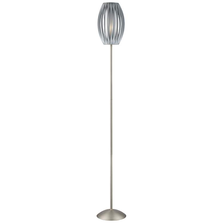 "Lite Source 69 1/2"" High Satin Steel Egg Floor Lamp"