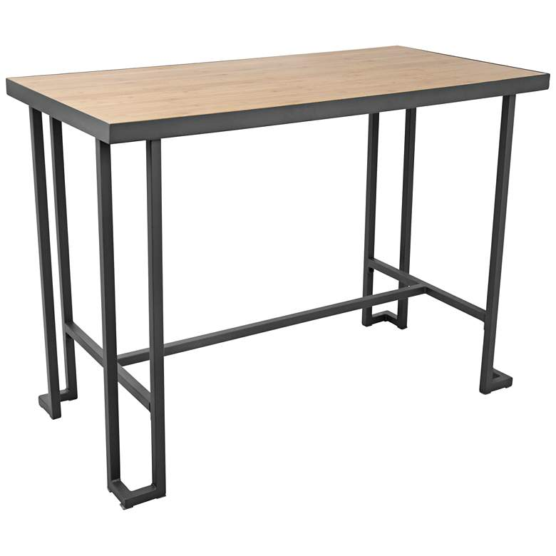 """Roman 48"""" Wide Natural and Gray Rectangular Counter Table"""