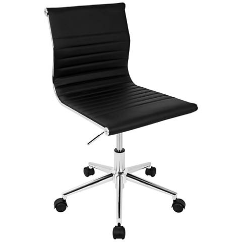Master Black Faux Leather Adjustable Task Chair