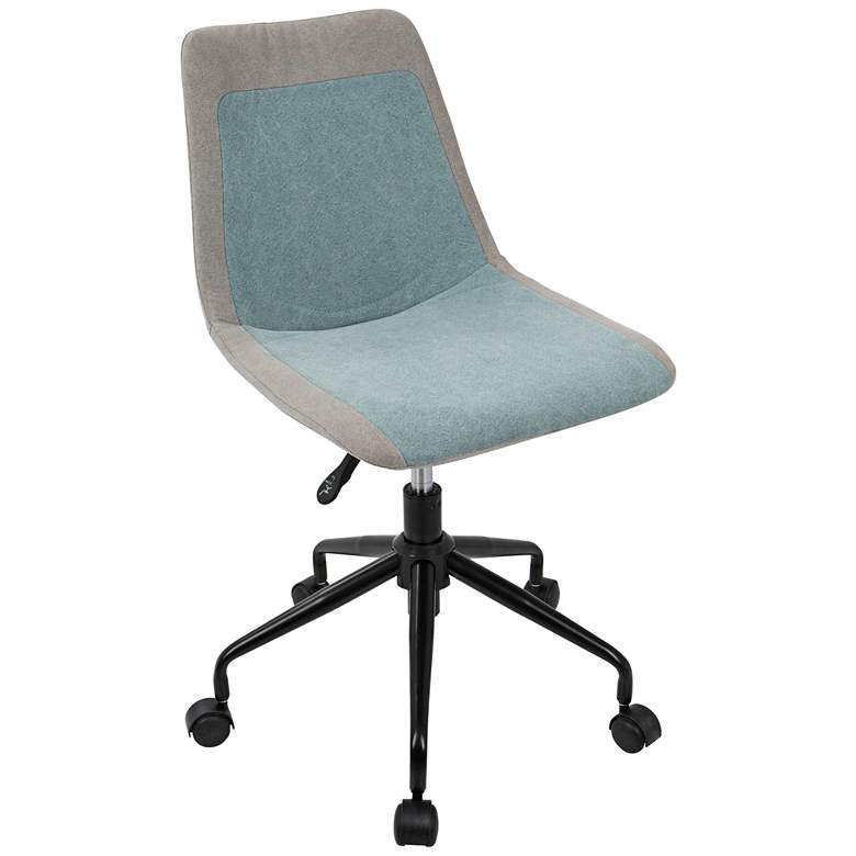 Orzo Gray and Blue Denim Adjustable Task Chair
