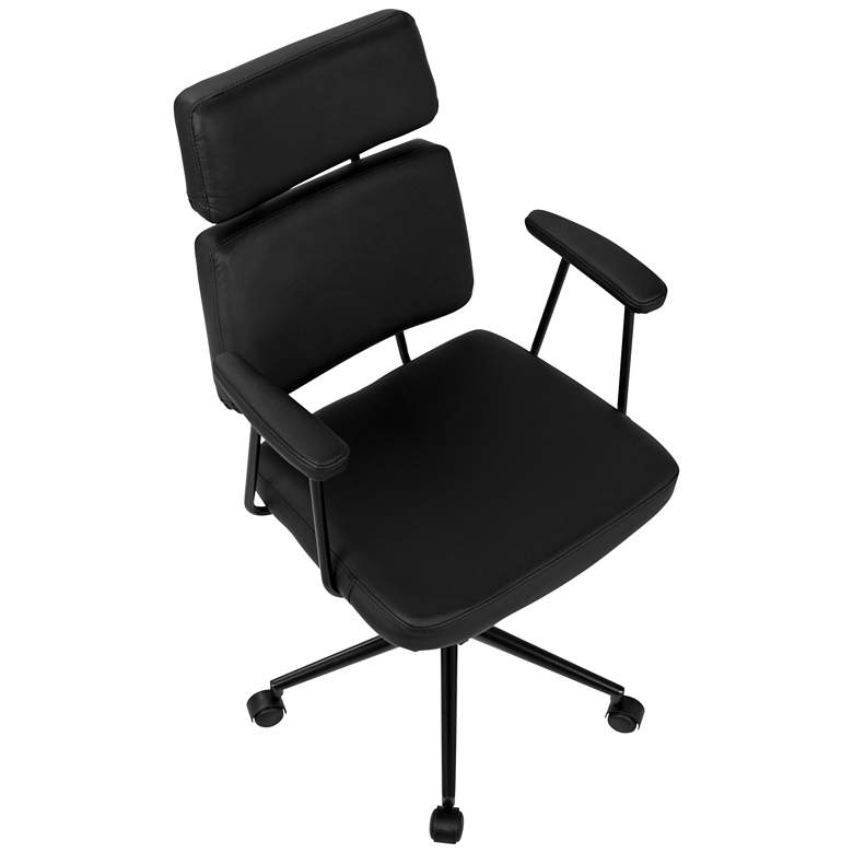 Sigmund Black Faux Leather Adjustable Office Chair