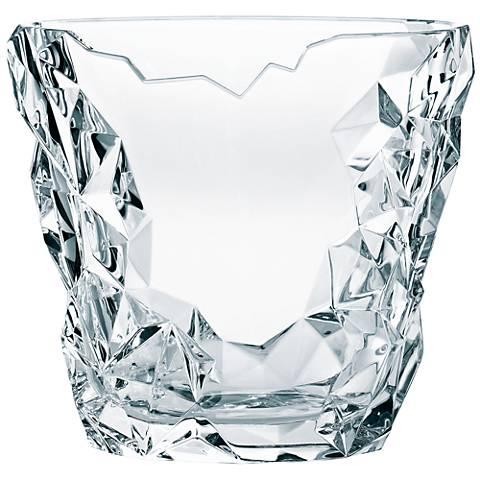 """Sculpture 10 1/2"""" Wide Bavarian Crystal Vase"""