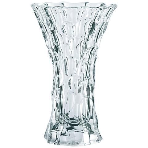 "Sphere 10 1/2"" High Bavarian Crystal Vase"