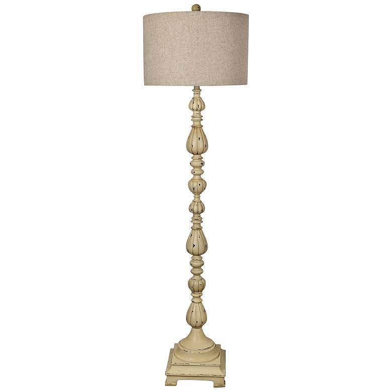 Crestview Collection Slender Avian Antique White Floor Lamp