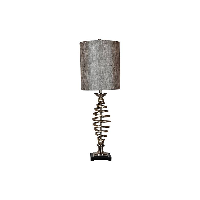 Crestview Collection Barrow Antique Silver Metal Table Lamp