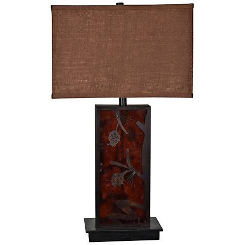 Crestview Collection Rhodes Amber Night Light Table Lamp