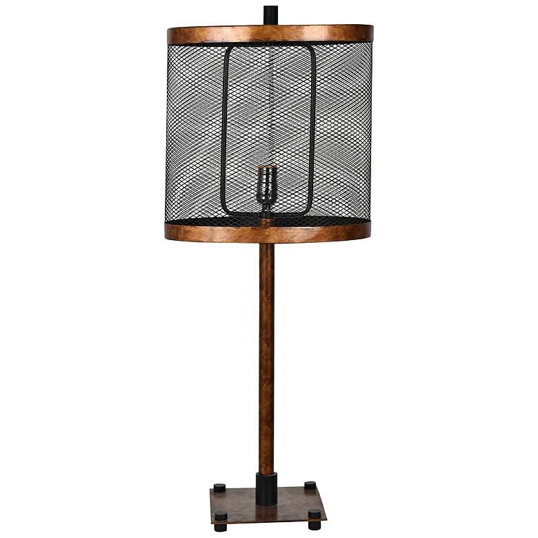 Crestview Collection Webster Antique Gold Metal Table Lamp