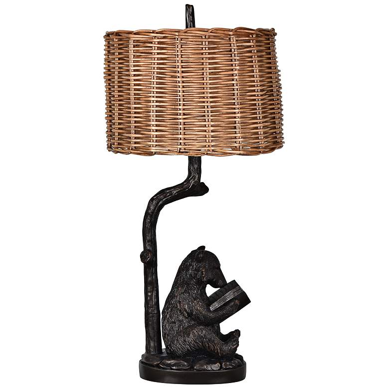 Crestview Collection Bear Knowledge Bronze Table Lamp