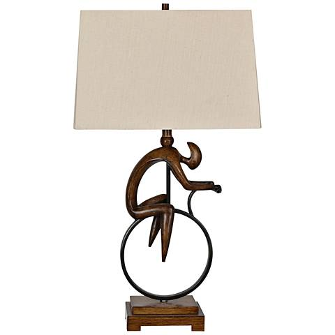 Crestview Collection Cycle Wood Table Lamp