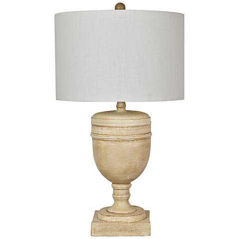 Crestview Collection Galton Antique Cream Table Lamp